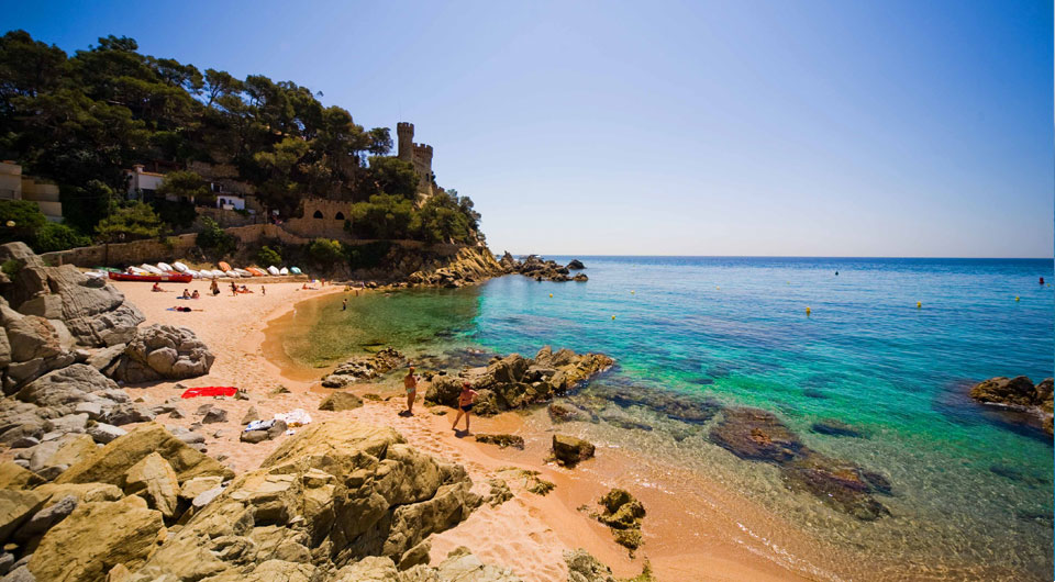 Beach in Lloret de Mar, Costa Brava